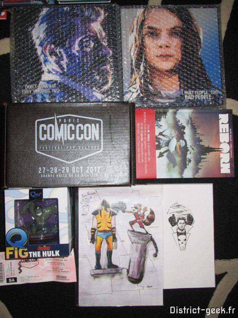 Achats souvenirs Paris Comic Con 2017