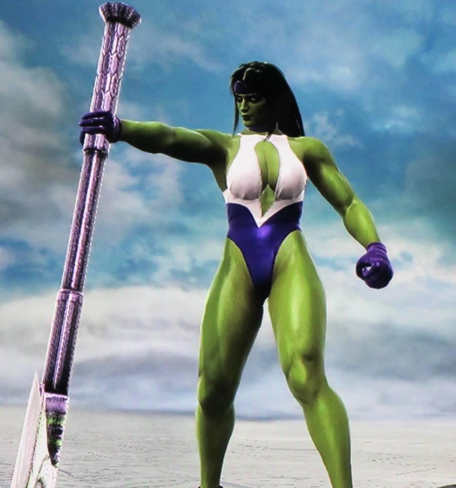 Création Soul Calibur V : She-Hulk