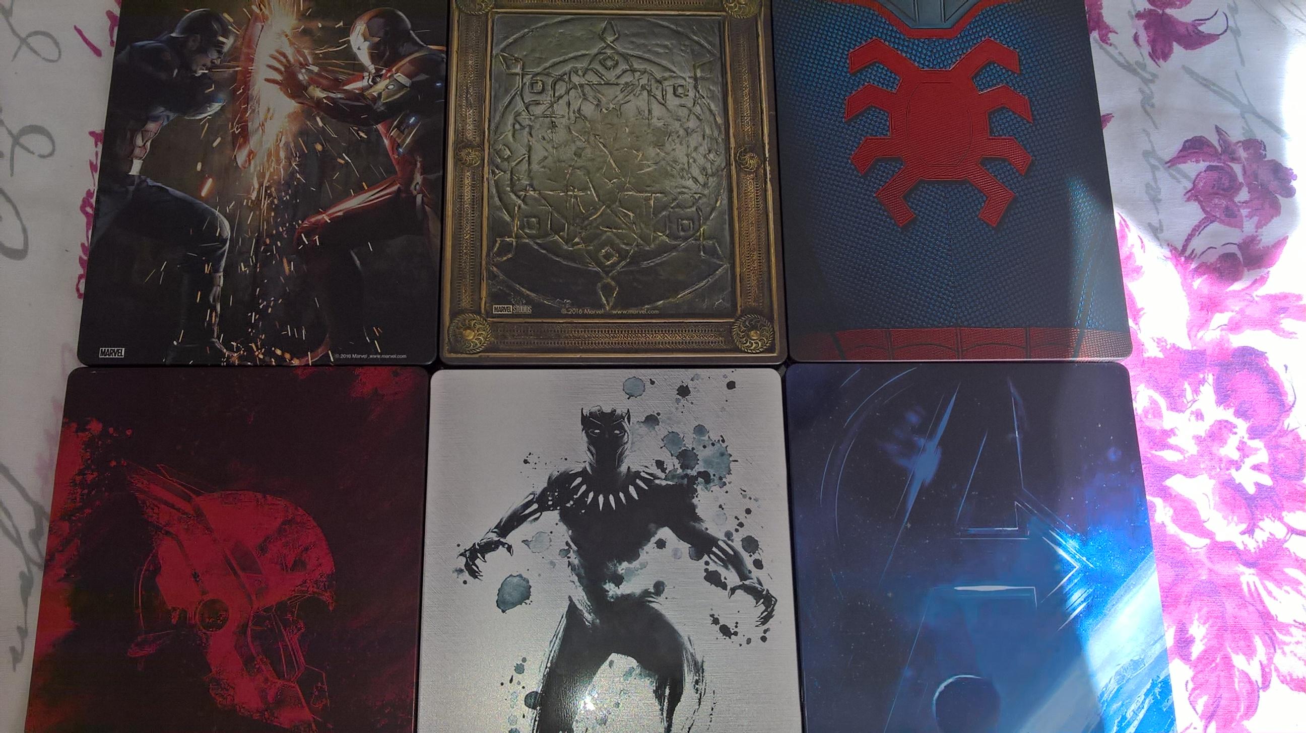 Marvel Phase 3 - blu ray steelbooks
