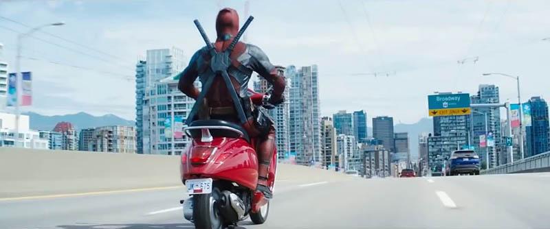 Deadpool en scooter