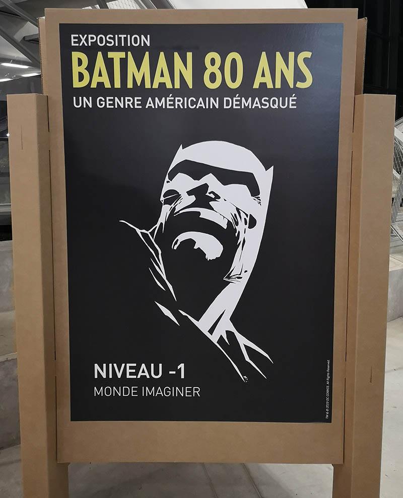 affiche de l'exposition Batman 80 ans