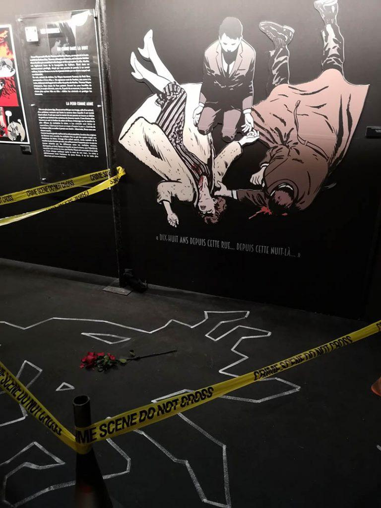 Scène de crime de la famille Wayne