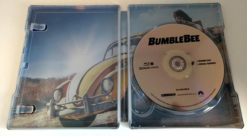 Bumblebee - steelbook Fnac - intérieur avec disque
