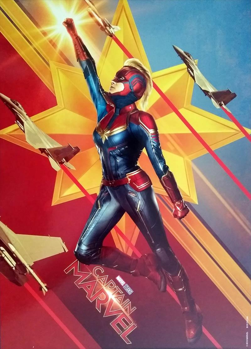 Lithographie Captain Marvel - Edition spéciale E.Leclerc