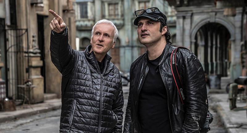 James Cameron et Robert Rodriguez sur le tournage d'Alita : Battle Angel