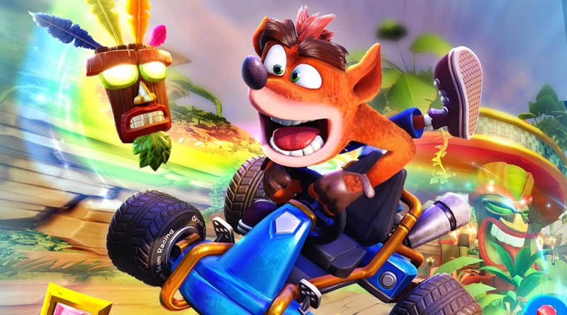 Menu d'accueil Crash Team Racing Nitro Fueled