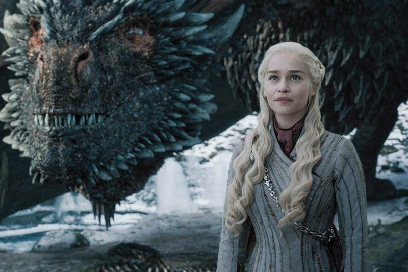 Daenerys Targaryen et Drogon - Game Of Thrones - Saison 8