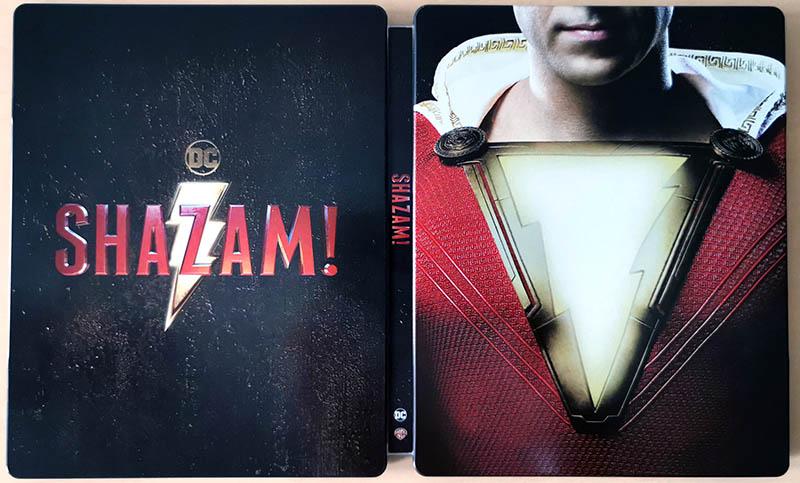 Steelbook Shazam! ouvert