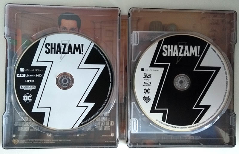 Visuel interne avec disques - steelbook SHAZAM