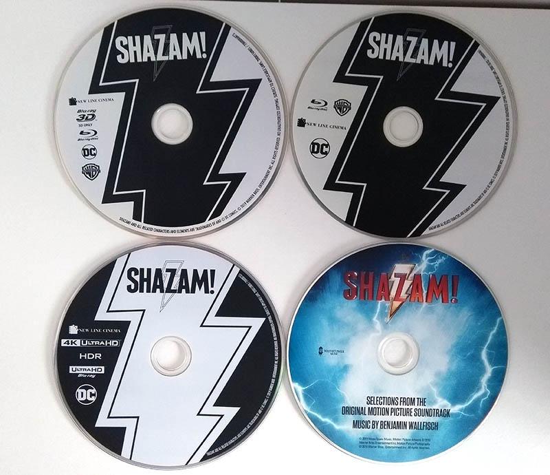 3 blu ray + le cd de la bande originale du film SHAZAM