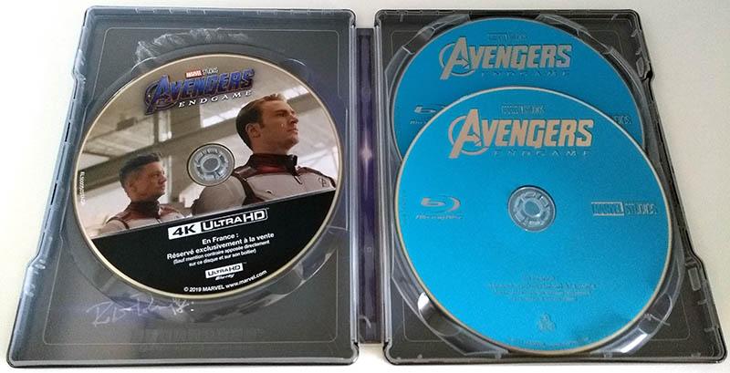 Avengers Endgame - steelbook - disques