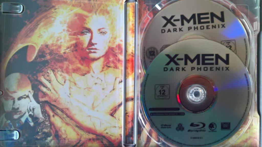 Visuel interne steelbook X-Men : Dark Phoenix, avec disques
