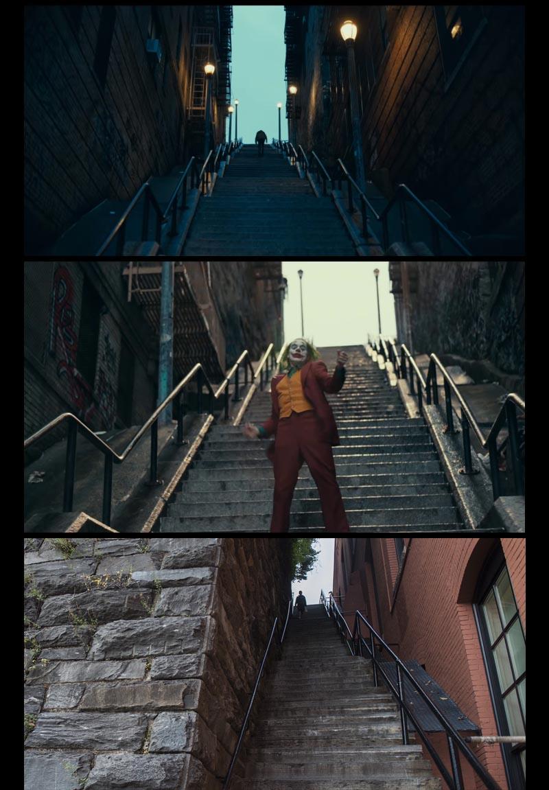 Escaliers dans l'Exorciste et JOKER