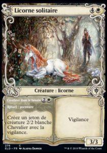 Carte Magic Trône d'Eldraine - Licorne solitaire