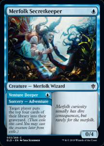 Carte Magic Trône d'Eldraine - Merfolk Secretkeeper