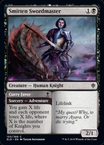 Carte Magic Trône d'Eldraine - Smitten Swordmaster