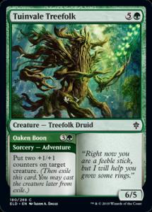 Carte Magic Trône d'Eldraine - Tuinvale Treefolk