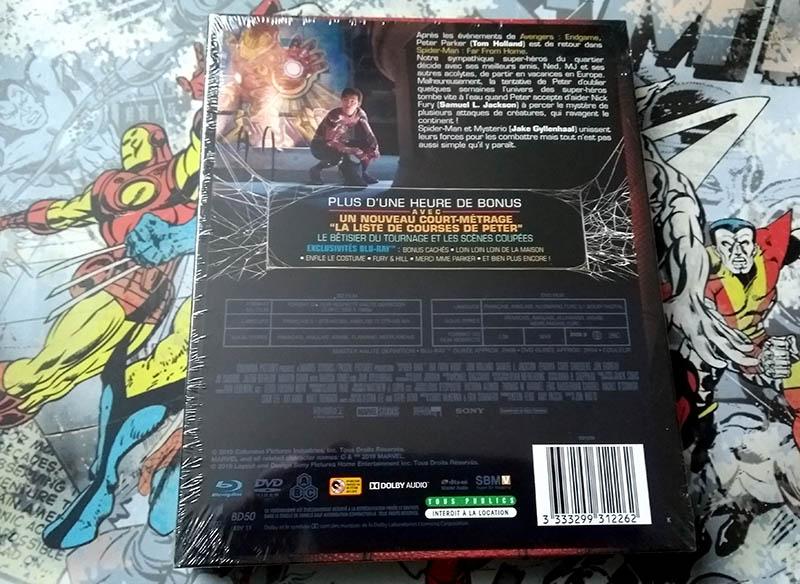Visuel verso avec disques - Spider-Man Far From Home - édition limitée spéciale E. Leclerc