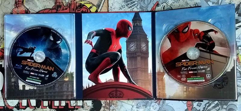 Visuels internes avec disques coté Spidey - Spider-Man Far From Home - édition limitée spéciale E. Leclerc