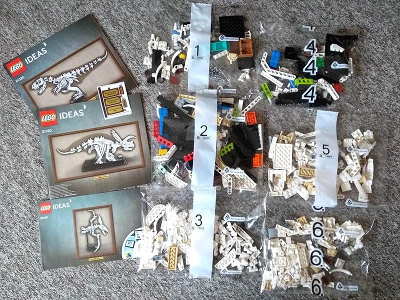 LEGO IDEAS 21320 - sachets et livrets de construction