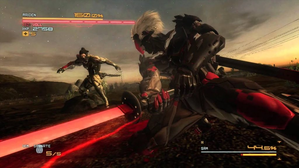 Combat Jetstream Sam vs Raiden - Metal Gear Rising Revengeance