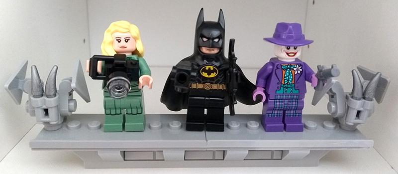 Minifigs Batman 1989 : Vicki Vale, Batman, le Joker