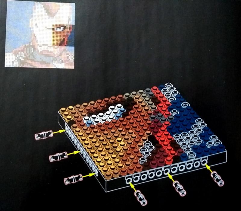 Instructions de montage Lego Art Iron Man de Marvel Studios